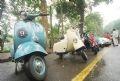 在黎凤晓街上游行的各种卫士牌古董车。