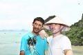 Bensani Said và Leclercq Renald trên vịnh Hạ Long- Quảng Ninh.