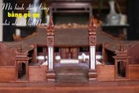 Mô hình đình làng bằng gỗ gụ nhỏ nhất Việt Nam