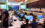 Dans le cadre de la conférence ministérielle des Finances de lAPEC et des réunions annexes le matin du 19 octobre 2017 à Hoi An (province de Quang Nam) sest déroulée la conférence ministérielle des Finances de lAPEC. En image: Panorama de la conférence. Photo: An Dang/AVI