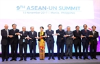 Prime Minister Nguyen Tan Dung attended the 9th ASEAN-UN Summit in the Philippines on November 13. At the summit leaders of the 10 ASEAN nations and the UN valued the outcomes of bilateral cooperation particularly in carrying out the Joint Declaration on ASEAN-UN Comprehensive Partnership for 2016-2020 promoting common efforts to develop infrastructure in the region promoting public-private partnership capacity developing micro- small- and medium-sized enterprises and boosting ASEANs resilience in coping with climate change and natural disasters. Photo: Thong Nhat/VNA