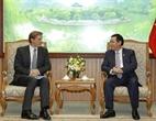 11月15日下午,越南政府副总理王廷惠在政府总部会见正在越南访问的世界经济论坛(WEF)亚太区主管贾斯汀·伍德(Justin Wood)。越通社记者 文牒 摄