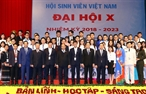 2018年12月10日、ベトナムのハノイにおいて、ベトナムのグエン・スアン・フック首相は 2018年―2023年第10回ベトナム学生協会の大会に出席した。チャン・クオック・ヴオン党政治局員・書記局常務、チュオン・ティ・マイ党中央大衆工作委員会委員長、ベトナム共産党中央宣伝教育委員会のヴォ・ヴァン・トゥオン委員長と多くのベトナムの指導者が同大会にも出席した。写真説明:同大会におけるベトナムのグエン・スアン・フック首相と代表者たち。撮影:トン・ニャットーベトナム通信社