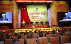 2018年12月12日午後、ハノイで、ベトナム農民協会の第7回全国代表大会が開催されている。ベトナムのグエン・フー・チョン書記長、主席とグエン・スアン・フック首相、グエン・ティ・キム・ガン国会議長が同大会に出席した。写真説明:同大会で発表するベトナムのグエン・フー・チョン書記長、主席。撮影:チー・ズンーベトナム通信社
