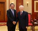 2018年12月7日の午後、グエン・フー・チョン書記長兼主席はベトナムを公式訪問しているフン・センカンボジア首相を歓迎した。撮影:フオン・ホア-ベトナム通信社