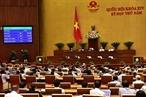 2018年6月12日上午,以423名代表的赞成票(相当于86.86%),越南第十四届国会第五次会议的代表表决通过《网络安全法》。有446名代表参加表决(占95.69%),其中423名代表赞成(占86.86%),15名代表不赞成(3.08%)和28名代表无表决(5.75%)。越通社记者 杨江 摄
