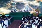 6月17日,河内市人委会在国家会议中心举行2018年河内--投资合作与发展会议,吸引国内外企业和投资商代表出席。阮春福总理出席会议并发表讲话。本报记者 清江 摄