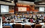 Le 15 janvier  le XXIV Forum Sao Paulo a été inauguré à La Havane (Cuba)  portant sur la solidarité des partis de gauche et des mouvements progressistes dAmérique latine et des Caraïbes.  Une délégation vietnamienne conduite par Nguyên Duc Loi membre du CC du PCV participe au forum. Photo : Vu Lê Ha –AVI