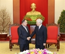 Party General Secretary and President Nguyen Phu Trong on January 23 had a reception in Hanoi for Thai Deputy Prime Minister and Minister of Defense Prawit Wongsuwan during his official visit to Vietnam. Photo: Tri Dung/VNA