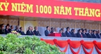 President Nguyen Minh Triet delivers a speech to open the meeting and parade in celebration of the 1,000th anniversary of Thang Long – Hanoi.