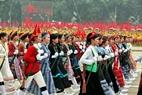 女性の民兵の代表団