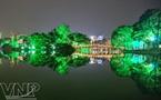 晶莹闪烁剑湖夜
