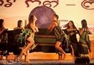Đoàn ca múa tỉnh Dak Nông tham gia tiết mục múa ngày mùa của dân tộc Tây Nguyên.