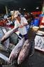 Chợ cá Phan Thiết có rất nhiều loại cá, trong đó cả những loại cá lớn.