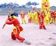 Presentación de artes marciales en la ceremonia.