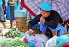 Nơi bán hàng nông sản của người dân.