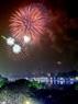 Pháo hoa được bắn vào thời khắc giao thừa tại Hồ Gươm.
