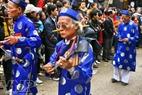 Đội nhạc lễ là các cụ cao niên trong làng.