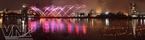 Rực rỡ đêm hội pháo hoa trên sông Hàn. (Ảnh: Hoàng Giáp)