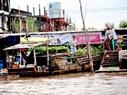 Cảnh mua bán, sinh hoạt, giải trí… của người dân đều diễn ra bên bờ sông. Ở đây có rất nhiều thuyền đậu và không thiếu những bài ca vọng cổ.