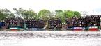 Các thuyền cá sau những chuyến đi biển dài ngày về trú đậu ở sông Cửa Lớn.