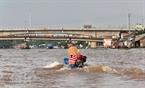 Sông Cái Côn, một tuyến sông đổ ra chợ nổi Ngã Bảy.