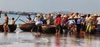 Một góc chợ cá bãi ngang Mũi Né.