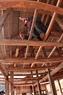 Ngôi nhà mới của anh Quàng Văn Bân đã dựng gần xong.