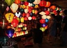 Walking on streets selling lanterns in Hoi An.