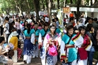 Young people in Ho Chi Minh City in Japanese traditional costumes excitedly take part in the festival.