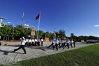 A parade to celebrate the 37th liberation anniversary of Truong Sa Archipelago in Song Tu Tay Commune.