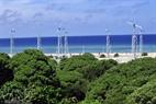 Sistema de energía eólica en la isla de Song Tu Tay.