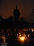 Sparkling candles at the foot of the Ly Thai To Monument near Hoan Kiem Lake, Hanoi. Photo: Tran Thanh Giang