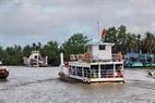 Phà Tắc Cậu - Xẻo Rô qua kênh Lộc Tắc.