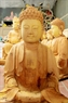 Statues are carved from jackfruit timber