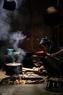 Sector de la cocina del pueblo étnico Mong.