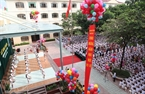 The opening ceremony of the new school year at Nguyen Sieu Primary School and High School.