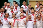 Joy of pupils at Nguyen Sieu High School on the beginning day of the new school year.