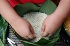 バイン・チュン(Banh Chung)は餅米で作られる。