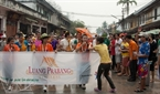 The water splashing festival in Luang Prabang is held from April 14-16 every year.