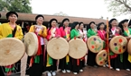 Chuong Village girls enjoy the festival.