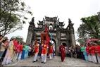 A procession in the festival.