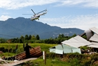 Máy bay Mi17 tham gia diễn tập cứu hộ động đất.