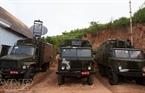 Thiết bị liên lạc quân sự được đưa vào thực hiện công tác diễn tập.