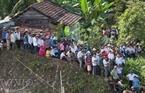 Hàng ngàn người dân huyện Bắc Trà My đến chứng kiến buổi diễn tập, tuyên truyền, giáo dục nâng cao nhận thức trách nhiệm, chủ động phòng tránh, sẵn sàng ứng phó hiệu quả khi có động đất xảy ra là một trong 4 muc tiêu của cuộc diễn tập lần này.