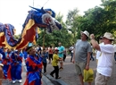 Dragon dance troupes on Hanoi streets. Photo: Tran Thanh Giang/VNP