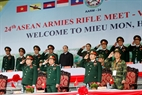 Senior Lieutenant General Ngo Xuan Lich, Chairman of the Political General Department of Vietnam People's Army and Senior Lieutenant General Do Ba Ty, Chief of the General Staff of Vietnam People's Army attend the opening ceremony.