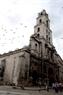Vista de una antigua iglesia en La Habana Vieja.