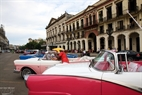 Old colourful cars are a common sight on the streets in Havana.