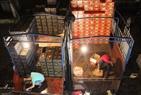 Xe chở hoa quả về đổ hàng tại chợ đêm Long Biên.